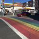 Rain delays installation of rainbow crosswalk in Ferndale