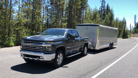 The 2020 Chevrolet Silverado 3500 HD was quiet and composed towing a 28-foot trailer in mountains and on logging roads.