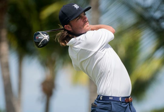Joey Garber of Petoskey donned a Tigers cap during the Puerto Rico Open in February.