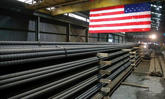 Steel rods produced at the Gerdau Ameristeel mill in St. Paul, Minn. await shipment. The Supreme Court rejected an early challenge to President Donald Trump's authority to impose tariffs on imported steel based on national security concerns.