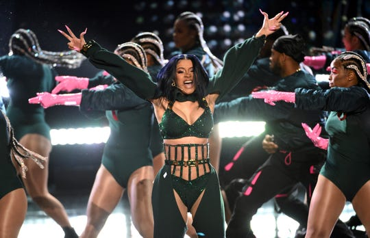 Cardi B performs at the BET Awards on Sunday, June 23, 2019, at the Microsoft Theater in Los Angeles.