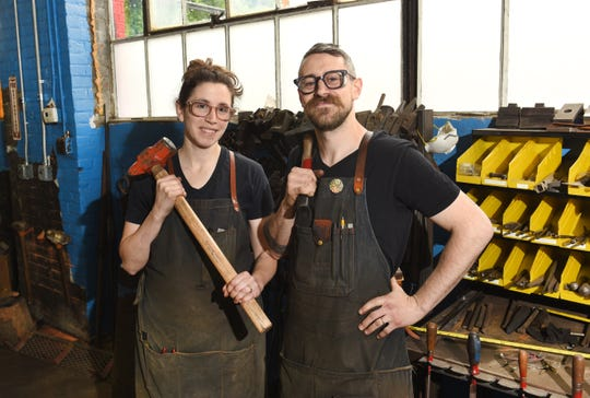 Gabriel Craig and his wife Amy own the Smith Shop metal studio in Highland Park.