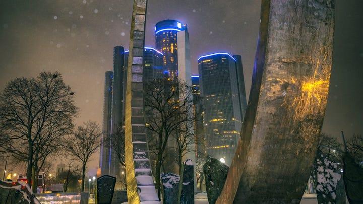 Hart Plaza's winter glow earns spot in Celebrate Michigan finals