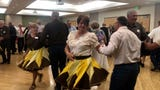 The first dance marked the start of the merger between the two square dancing clubs.
