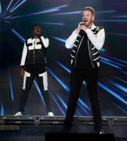 Pentatonix performs to a crowd of nearly 7,000 Sunday night at the Resch Center.