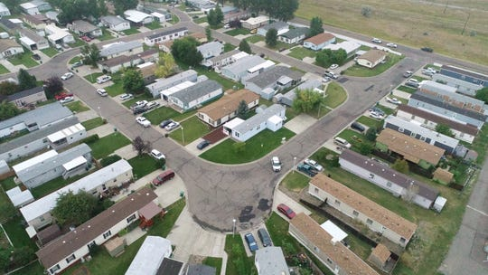 A drone photo of the crime scene was shot by a citizen and turned over as evidence in the fatal officer-involved shooting of Charles Anthony Marcotte on Aug. 19, 2018.