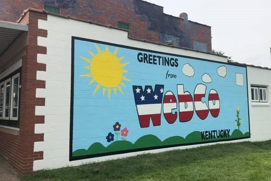 A view of the finished mural by Big Rivers employees in Sebree, Ky.