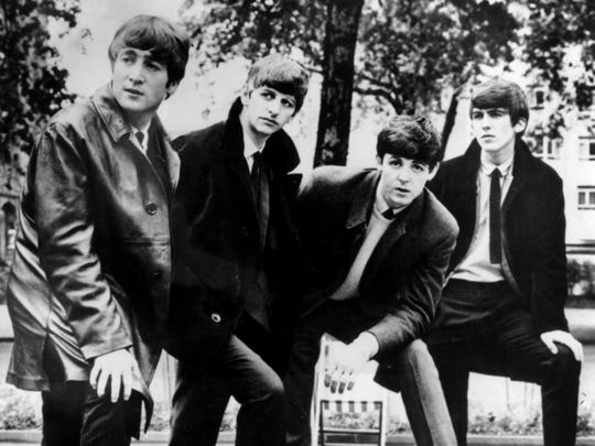 The Beatles (from left,  John Lennon, Ringo Starr, Paul McCartney and George Harrison) are seen in 1963.