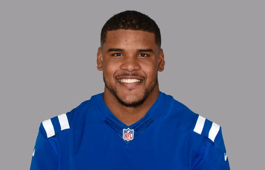 This is a 2019 photo of Antonio Garcia of the Indianapolis Colts NFL football team. This image reflects the 2019 active roster as of 6/11/19 when this image was taken. (AP Photo)