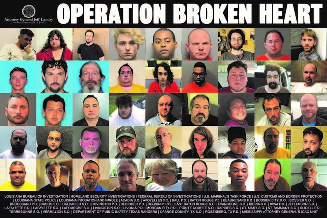 Operation Broken Heart was a crackdown on child exploitation in Louisiana.
