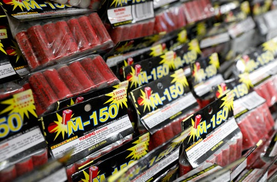 The Hamburg Fireworks retail store on Horns Mill Road in Berne Township features hundreds of different fireworks for sale to the general public.