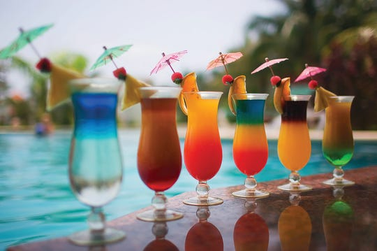 A well-stocked outdoor bar can keep guests in good spirits.