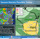 A few storms could turn severe across southern Wisconsin on Monday