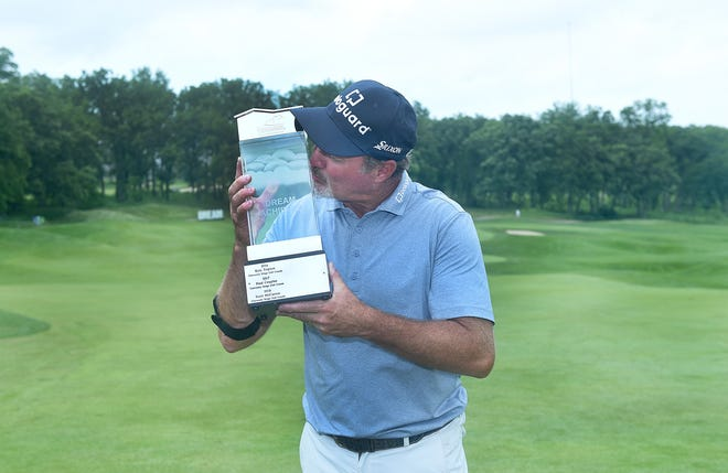 Madison's Jerry Kelly won the 2019 American Family Insurance Championship in 2019. The event was canceled last year.