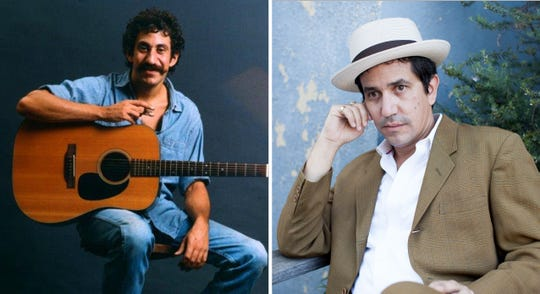 A.J. Croce (right) will present the songs of his late father, Jim, along with his own works on Oct. 14 at The Sheid.
