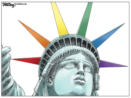 Lady Liberty welcomes LGBTQ too.