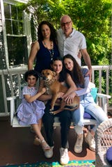 Sabra CMO Jason Levine with wife Amy and daughters Samantha, Natalia and Sylvie (and dog Juna)