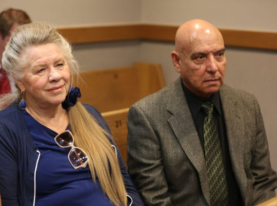 Corban Serna's parents Cherry and Jesus Serna watch their son's pre-trial detention hearing in Third Judicial District Court, Monday June 24, 2019.