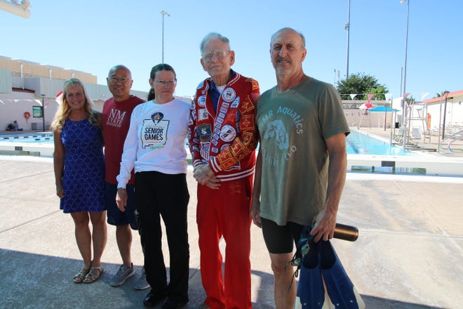 Five Las Cruces swimmers competed in the 2019 National Senior Games. From left, Jayne Milavec, Philipp Djang, Eileen Shult, Jordan Wolle and Kevin Young.