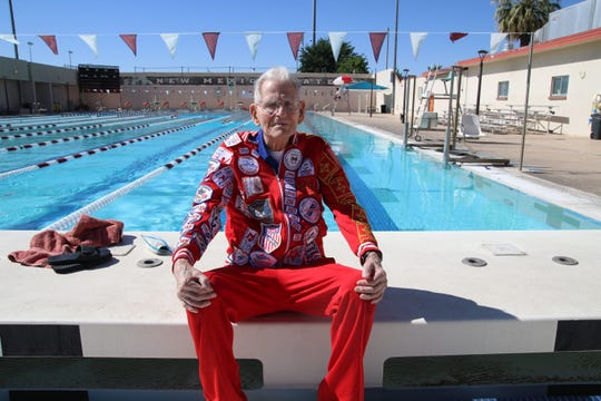 Jordan Wolle, 91, of Las Cruces, competed in the 2019 National Senior Games in Albuquerque in the swimming events. He's one of eight people to compete in every National Senior Games since its inception in 1987.