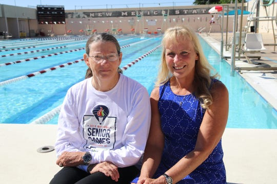 Eileen Shult, left, and Jayne Milavec, are both first-time National Senior Games participants. Both women competed in swimming events. Milavec also competed in the 5000-meter power walking event and won bronze.