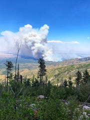 The Pine Lodge Fire in the Capitan Moutains Wilderness has consumed close to 8,000 acres.