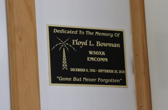 The San Juan County EmComm Team dedicated one of its trailers to former member Floyd Bowman.