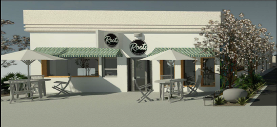 The city of Coachella on Wednesday will consider a proposal for the Roots coffeeshop and cannabis dispensary in downtown Coachella. The rendering shows the property at 791 Orchard St.