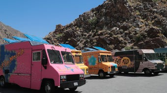 'The Great Food Truck Race,' hosted by chef Tyler Florence, shot an episode at the Palm Springs Tramway on Monday, June 24, 2019 in Palm Springs, Calif.