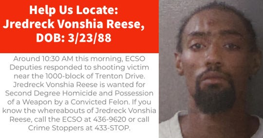 Jredreck Vonshia Reese, 31, is wanted by the Escambia County Sheriff's Office.