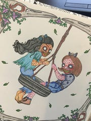 Just like when I was a kid, coloring calms me.