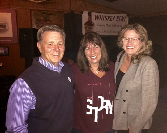 Mike Petrone with his wife, Carrie, and I at the Silver Pony Bar & Grill in Phoenix in 2015.