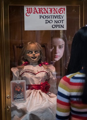 """In """"Annabelle Comes Home,"""" do you think Daniela (Katie Sarife) will take that warning seriously?"""