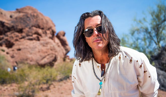 Roger Clyne, the founder of bands The Refreshments and Roger Clyne and the Peacemakers, talks about his career during an interview in Papago Park in Phoenix, Wednesday, June 19, 2019.