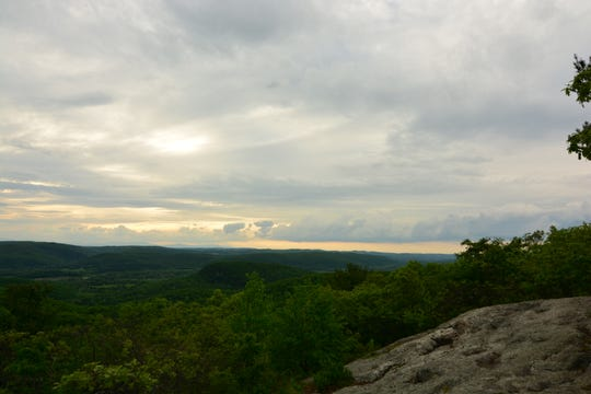 The view from the top of Cobble Mountain in Kent, Connecticut.