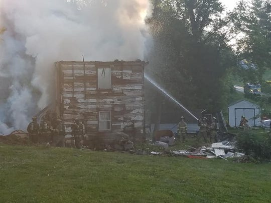 Crews responded to a fire in the 4200 block of Battle Hill Road Sunday, June 23. Photo courtesy of Airville Fire Co.