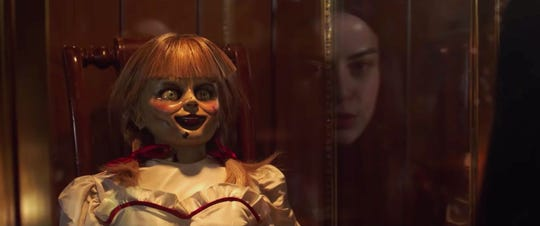 """Annabelle Comes Home"" opens Thursday at Regal West Manchester and Frank Theatres Queensgate Stadium 13."