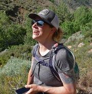 #HikingMyFeelings founder Sydney Williams hiking on the Hunter Creek Trail in Reno on June 22, 2019.