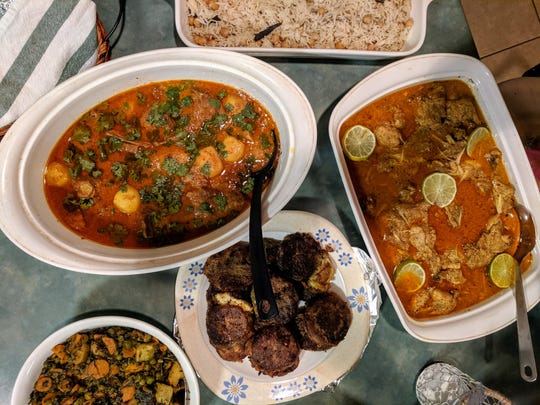 Pakistani classics are served at the Qureshi family's iftar party.