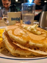 Pancakes and eggs is the main order at IHOP for suhoor.