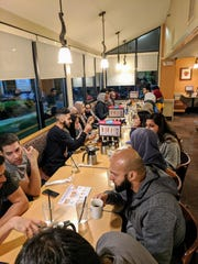 Young Muslims in Memphis, Tennessee wait for food at 3 a.m. for their IHOP suhoor.