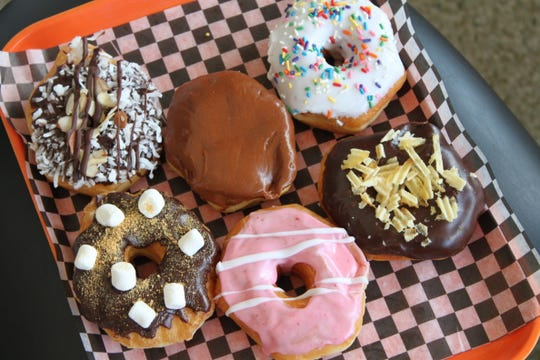 A selection of Bearscat Bakehouse doughnuts. The bakery opened on June 24, 2019 at 190 High Street SE.