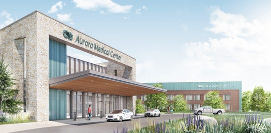 A rendering of the new Aurora hospital in Kohler, which is expected to be completed in 2021.