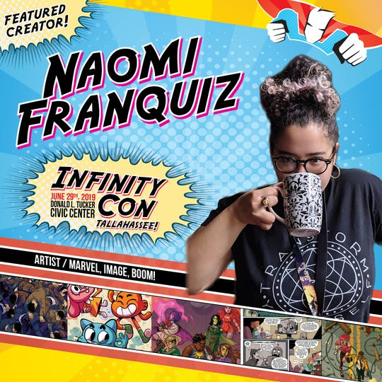 Artist Naomi Franquiz will be one of the guests at Saturday's Infinity Con.
