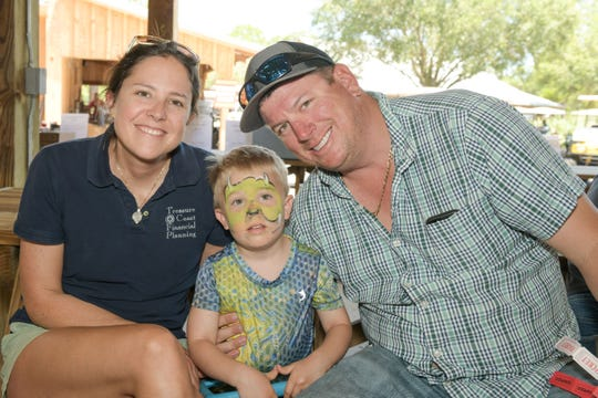 Angela, left, Dillon and Colby Johnson support St. Andrew's Episcopal Academy's fourth annual Clays for a Cause, presented by Ameracat.com.