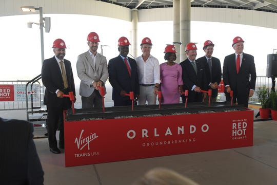 Virgin Trains USA holds their official groundbreaking ceremony on Monday, June 24, 2019 at the Orlando International Airport, for their highly anticipated expansion of rail service from South Florida to Orlando.