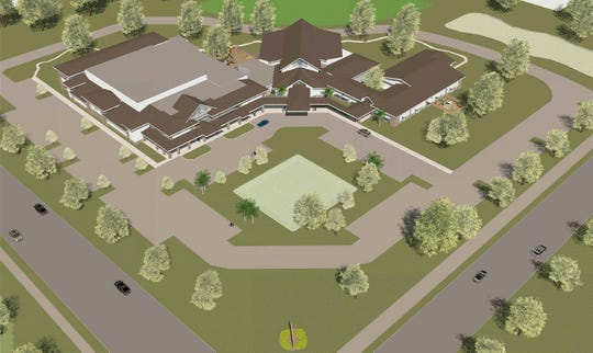 An artist rendering, done by Rardin & Carroll Architects in 2018, is for Glendale Christian School, which plans to build a new campus accommodating a maximum of 400 students at Fourth Street and 27th Avenue, south of Vero Beach.