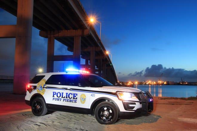 A Fort Pierce Police Department cruiser.