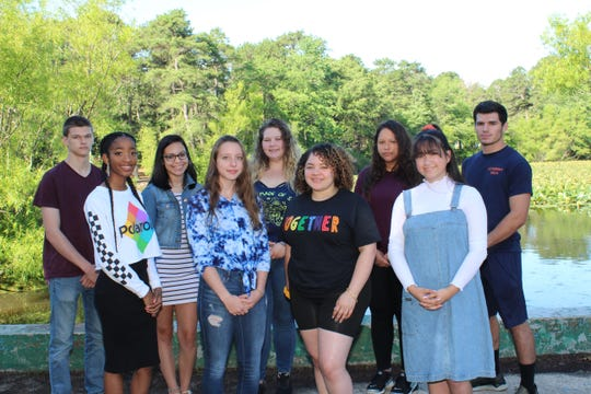 Millville High School's Students of the Month for May are: (front row, from left) Sakaia Hadley, Julie McHugh, Nyasia Wilson and Maia Morales; and (back row, from left) Dylan Massey, Daelyn Dookie, Lydia Banks, Ashley Suarez and Jacob Parent.