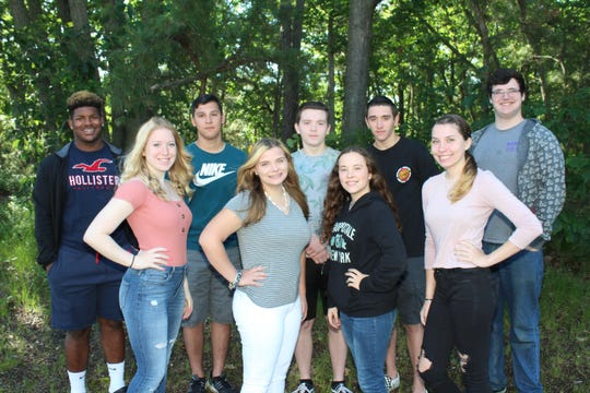 Millville High School's Students of the Month for June are: (front row, from left) Alaina Hubbard, Kyleigh Harbison, Keirstin Roscoe and Taylor Chard; and (back row, from left) Darius Watson, Zachary Nolter, Wesley Pezzella, Brandon Hack and Matthew Dugan.